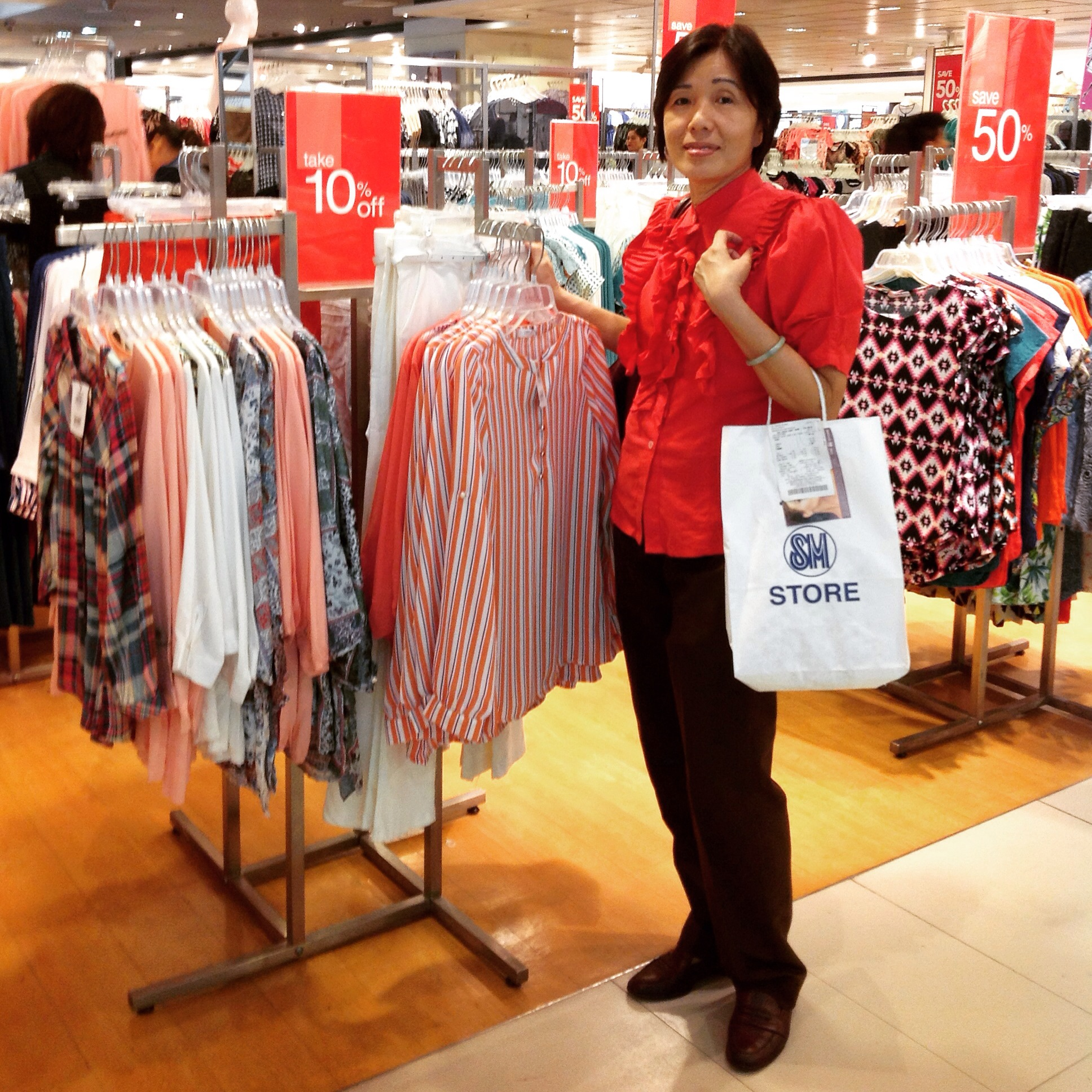 Shopping At SM Woman In  SM Megamall
